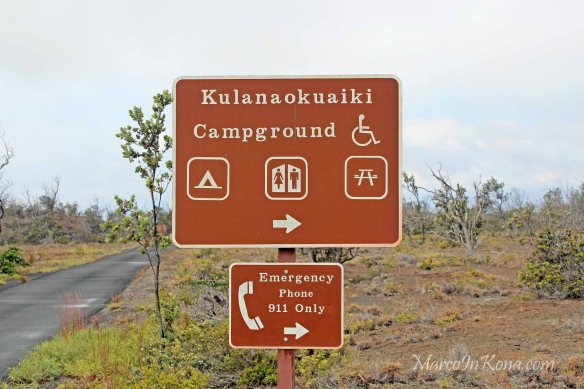 Camping in Hawaii Volcano National Park, Kulanaokuaiki Campground